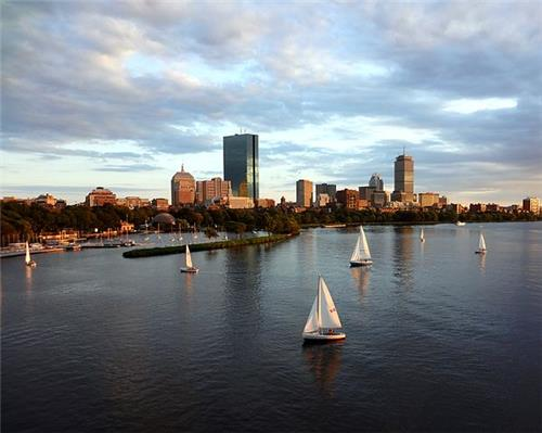 Back Bay and Charles River, Boston